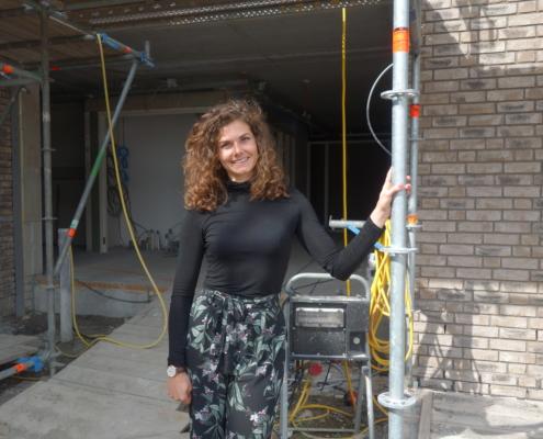 Valesca Lefeber projectleider Gors bij bouw Beethovenlaan